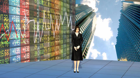 Stock Market Business Presenter Riview Stock Video Footage