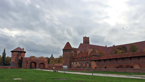Right pan of the gate and outer wall of the medieval castle Live Action