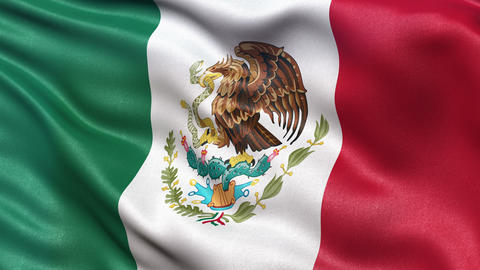 4K Flag of Mexico seamless loop Ultra-HD Animation