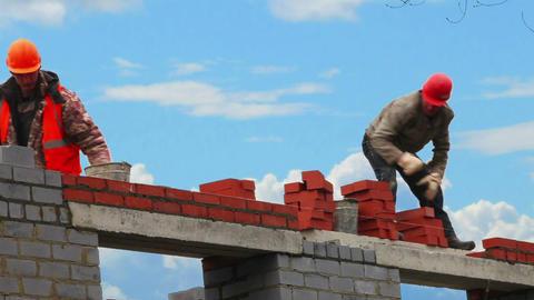 Bricklayer, Mason, Construction Worker Footage