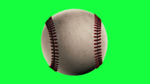 BaseBall, Loop Seamless, Isolated On Green Screen stock footage