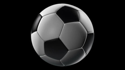 Soccer Ball, loop seamless, isolated black backgraund Animation