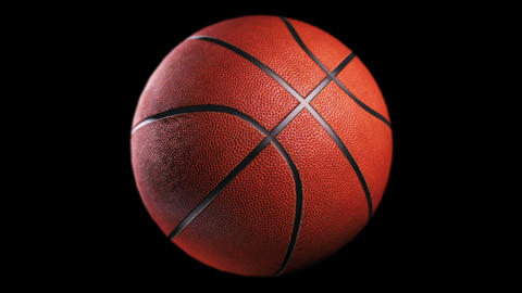 Basketball, loop seamless, isolated black backgraund Animation