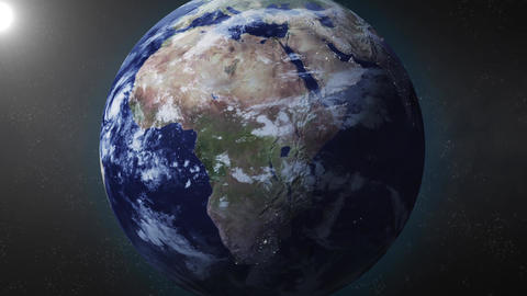Earth Animation zooms in on South Africa Animation