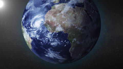 Earth animation zooms in on South Pole Animation