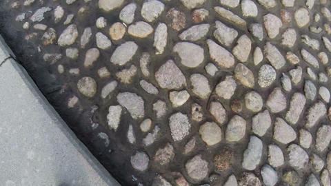 Bridge, the road of cobblestones Footage