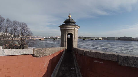 Lookout Tower In The Peter-Paul Fortress stock footage