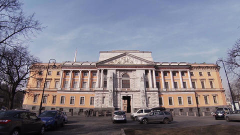 The Mikhailovsky castle in St. Petersburg Footage