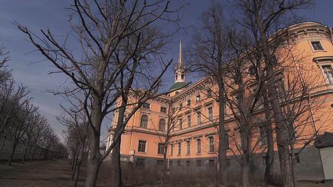 The Mikhailovsky castle in St. Petersburg Footage