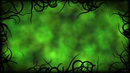 Black Vines Border Background Animation - Loop Green Animation
