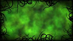 Black Vines Border Background Animation - Loop Green Animation