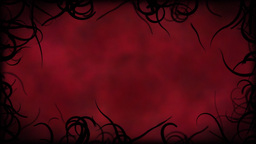 Black Vines Border Background Animation - Loop Red Animation
