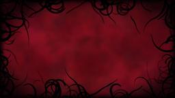 Black Vines Border Background Animation - Loop Red Animation