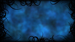 Black Vines Border Background Animation - Loop Blue Animation
