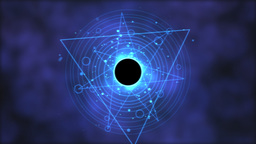 Magic circle, Geometric Background Animation - Loop Blue Animation