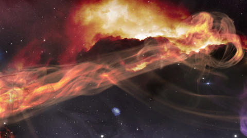 fly from space gas nebula 11617, Stock Animation