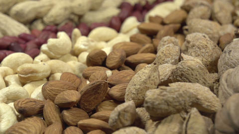 Variety of Dried Fruits and Nuts Footage