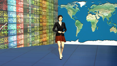 Global Stock Market Business Presenter Riview Footage