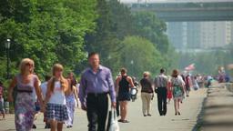 Walk along the promenade Footage