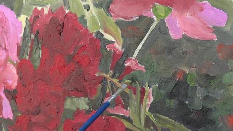 Oil painting on canvas 12 ライブ動画