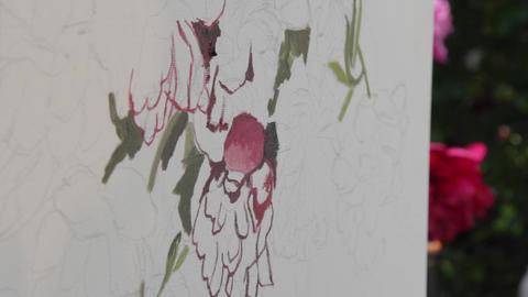 Oil painting on canvas 01 Footage