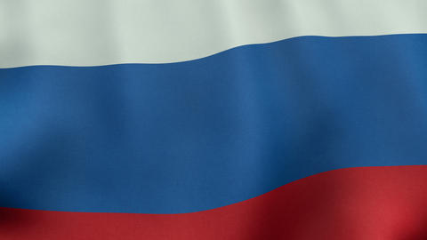 4K UltraHD Loopable waving Russian flag animation Animation