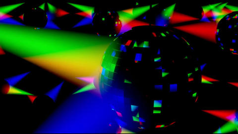 Disco Ballz 001 stock footage