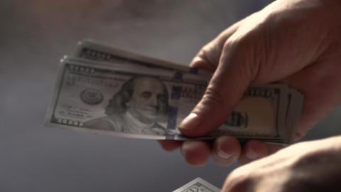 Manual Recount of Money HD Footage