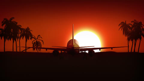 Airplane Landing In Africa 4K stock footage