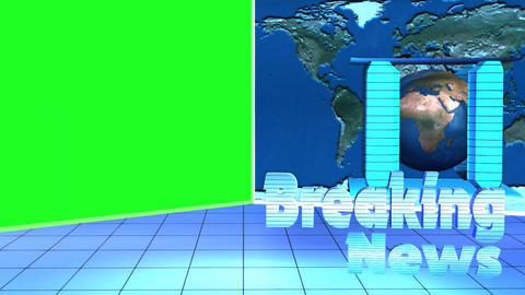 Breaking News Broadcast TV Motion Green Screen stock footage