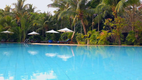 Beautiful Swimming Pool At The Hotel Ponorama stock footage