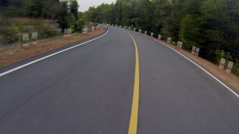 Center Road Driving stock footage