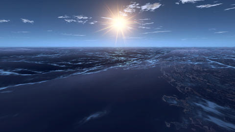 3d animation seascape at sunset Animation