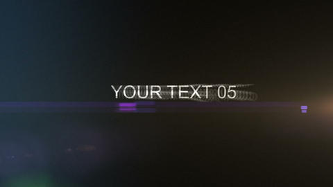Dynamic Text Intro After Effects Template