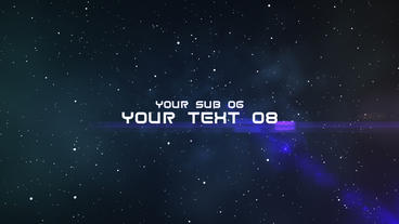 Space Titles Template After Effect