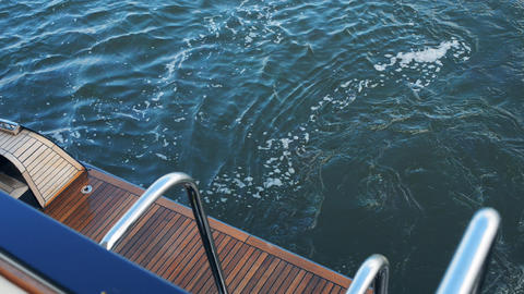 View Of The River From The Deck Of The Yacht stock footage
