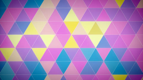 Triangle Polygon Loop 02 Spring Animation