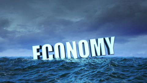 Economy Crisis (with cloudy sky) Animation