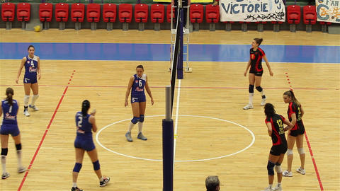 Volleyball Game 08 stock footage