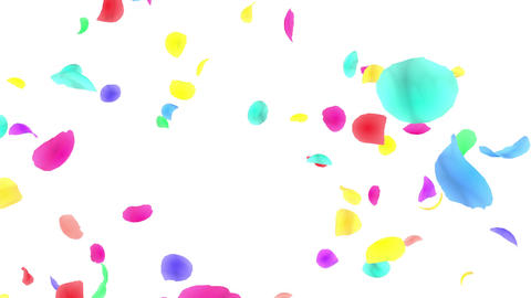 Flower petals rainbow tornado Fw 4 K Animation