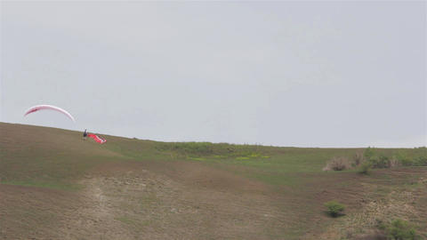 Paraglider on the ground 02b Footage