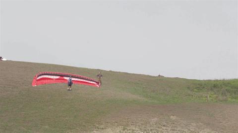 Paraglider on the ground 02c Footage