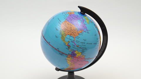 Desktop World Globe. 4K UHD stock footage