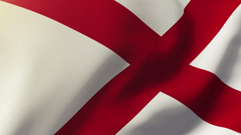 Alabama flag waving in the wind. Looping sun rises style. Animation loop Animation