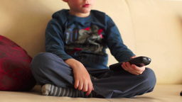 Child Play With Remote Control stock footage