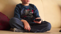 Child play with remote control Footage