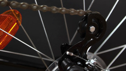 Bicycle Gear And Wheel stock footage
