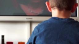 child watch television Footage