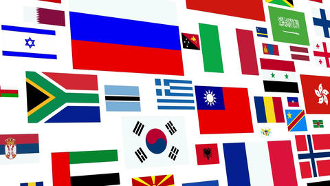 World Flag Loog stock footage