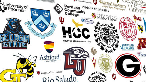 College Logo Loop stock footage